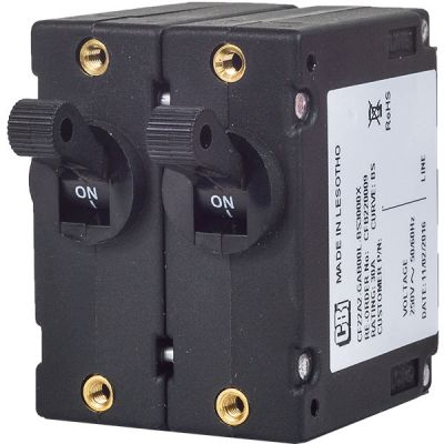 C-Frame Circuit Breaker for Equipment standard toggle handle double pole