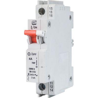 QA(13) AC 13 mm Module Width Dual Mount single pole