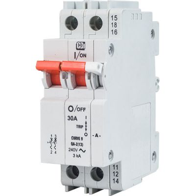 QA(13) AC 13 mm Module Width Dual Mount 2 pole