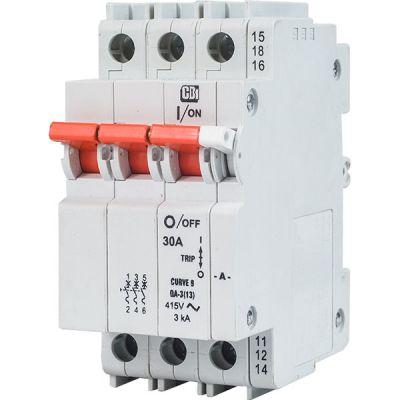 QA(13) AC 13 mm Module Width Dual Mount 3 pole
