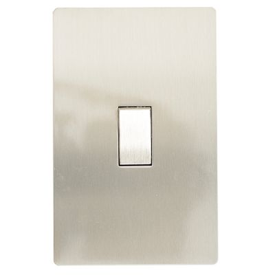 Brushed stainless steel 2x4 one lever light switch (2-way)